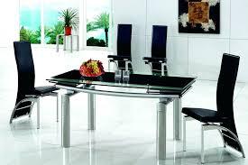 Black Glass Extending Dining Table Extendable Black Dining Table Sarasota Me