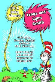 dr seuss baby shower invitations dr seuss cat in the hat and things baby shower invitation
