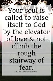 Quotes About Fear Of Love by Saints Quotes The Elevator Of Love U2022 The Littlest Way