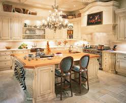 kitchen classic french kitchen design with hard wood island