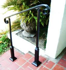 Exterior Stair Railing by Love How Simple This Railing Is 3ft Wrought Iron Handrail Step