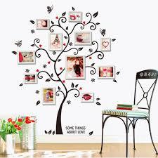 3d home decor design tree photo frame diy 3d vinyl wall stickers home decor design living