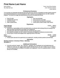 templates for a resume free professional resume templates livecareer