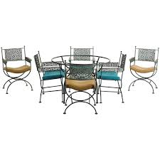 seven piece wrought iron patio set by shaver howard 1960 dining