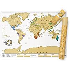 travel world map scratch map original personalised world map poster travel gift