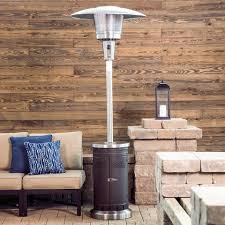 Propane Patio Heater Safety Shop Garden Treasures 47 000 Btu Mocha Steel Floorstanding Liquid
