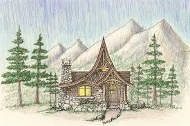 cabin plan mountain architects hendricks architecture idaho storybook
