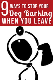 How To Train Dog To Stop Barking 9 Ways To Stop Your Dog From Barking When You Leave Good Doggies