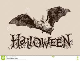 vintage halloween bat horizontal poster banner header mail i
