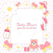 baby shower invitation card place for text greeting