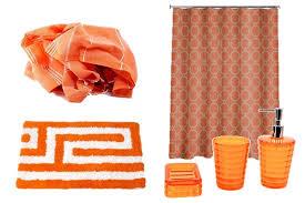 Contemporary Bathroom Accessories Uk - orange bath u0026 towels overstockcom buy shower accessories orange