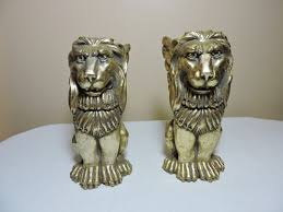 bookends lion lion gold bookends made in korea dean s liquidation business