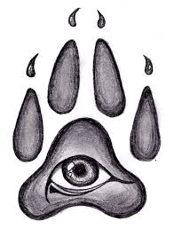 wolf pawprint tattoo design clipart library clipart library