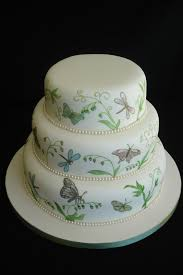 Exclusive Design Wedding Cakes 4 Tier White Butterflies Design