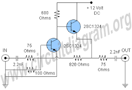 cable tv signal booster lifier circuit diagram