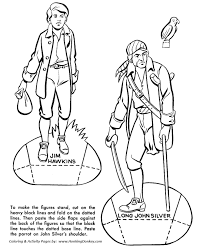 treasure island coloring pages buried pirate treasure story