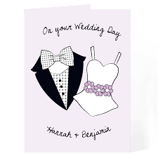 Wedding Message Card On Your Wedding Day Card