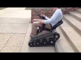 stair climbing power chair first try youtube
