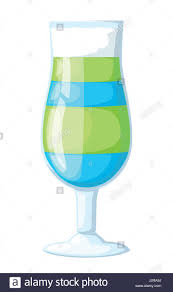 vector illustration of eight popular alcoholic cocktails flat