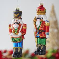 nutcracker ornaments nutcracker glass christmas ornament set raz imports
