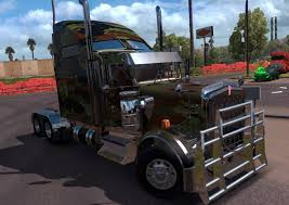 first kenworth truck kenworth w900 army mod mod ats mod american truck simulator mod