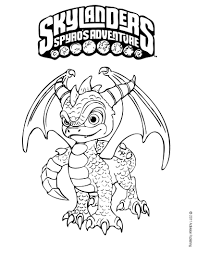 spyro coloring page more skylanders coloring sheets on hellokids