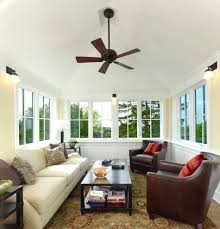 four square sunroom craftsman with wainscot traditional ceiling fans