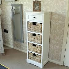 Cabinet Baskets Storage Black Wooden 3 Wicker 2 Drawer Storage Unit Wooden Storage Cabinet