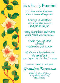 25 personalized family reunion invitations frf 02 yellow floral