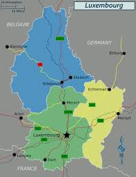 Germany Political Map by Political Map Of Luxembourg Luxembourg Political Map Vidiani