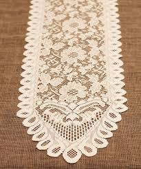 ivory lace table runner ivory lace table runner 13 x 76 floral style ls165 82 13 99