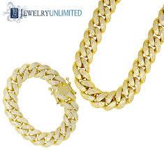 cuban chain bracelet images Miami cuban link iced out bracelet chain combo jpg