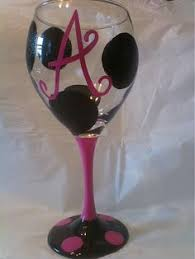 wine glass with initials painted initial wine glasses images stuff