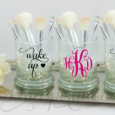 Organizing Makeup Vanity Personalized Monogram Makeup Brush Holder From Khinspirations On