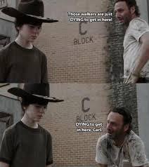The Walking Dead Funny Memes - the walking dead 23 of the funniest rick carl dad jokes smosh
