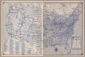 United States Highway Map by United States Road Map David Rumsey Historical Map Collection