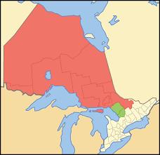 Northern Lights Map Northern Ontario Wikipedia