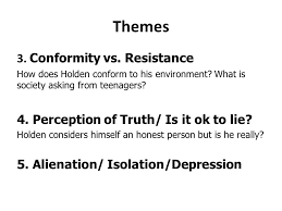catcher in the rye theme of alienation the catcher in the rye ppt video online download