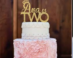 two year old cake topper two cake topper glitter two