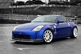 blue nissan 350z with black rims mco racing type cs u2013 work wheels usa