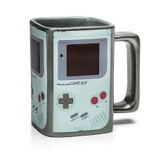heated coffee mug heat activated game boy coffee mug has screen that turns on when