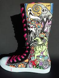 nightmare before christmas knee high shoes by rachelliles352 on
