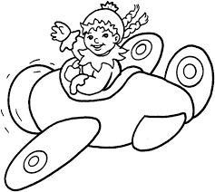 riding plane coloring kids free printable picture