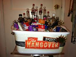 epic diy 21st birthday hangover themed gift basket my gift