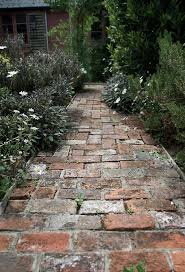 Reclaimed Patio Slabs Small Path Made Of Old Bricks In A Cottage Herb Garden We Could