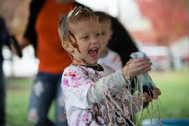 for our messy party we had silly string spray whipped cream tubs