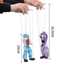 string puppet 4 pcs set 25cm kids classic wooden clown pull string puppet