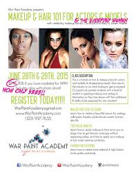 makeup and hair classes 21 best wpa classes courses images on war paint the