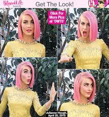 julianne hough hairstyles riwana capri julianne hough s pink hair on dwts new haircut before show
