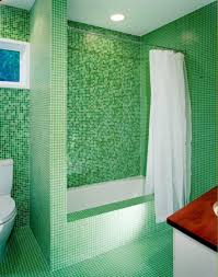 Bright Interior Nuance Refreshing Nuance Coming From Mosaic Tile Bathroom Which Is
